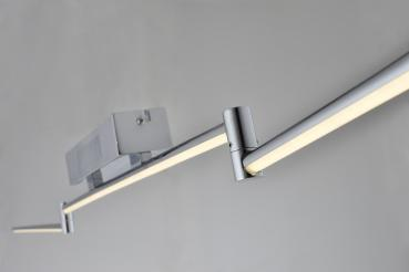 Woward 37W Design LED Deckenlampe | Warmlicht | Chrom Metall